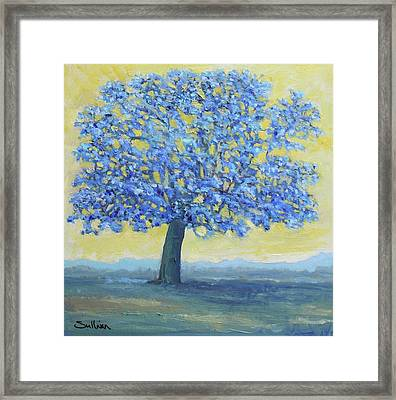 Blue Breeze Framed Print