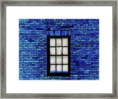 Framed Print featuring the digital art Blue Brick by Robert Geary