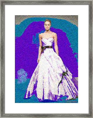 Blue Bride Framed Print by Penfield Hondros