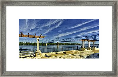 Blue Bridge And Smothers Park Framed Print by Wendell Thompson