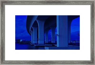 Blue Bridge Framed Print by Don Youngclaus