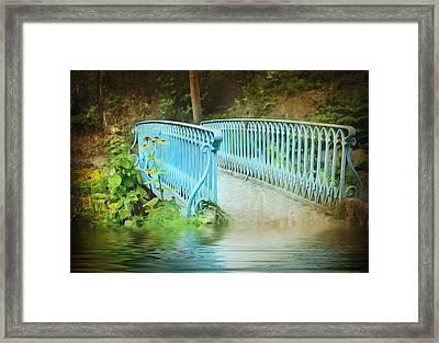 Blue Bridge Framed Print by Svetlana Sewell