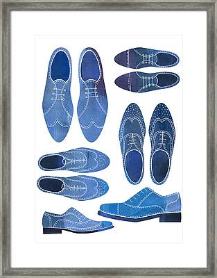 Blue Brogue Shoes Framed Print by Nic Squirrell