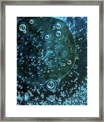 Blue Bubbles Framed Print by Sandy Taylor
