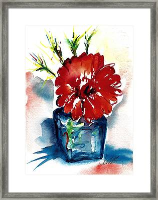 Blue Bud Vase Framed Print
