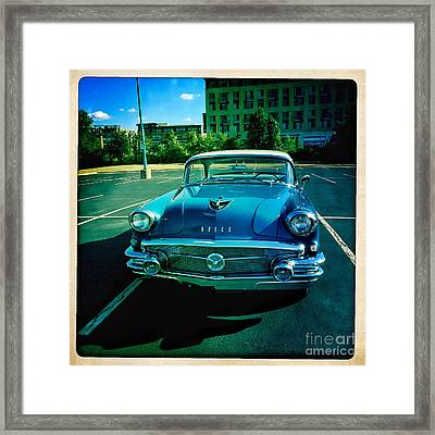 Blue Buick Framed Print by Terry Rowe