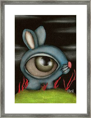 Blue Bunny Framed Print by  Abril Andrade Griffith