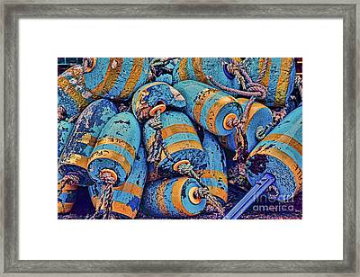 Blue Buoys Framed Print