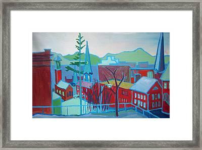 Blue Burlington Framed Print by Debra Bretton Robinson