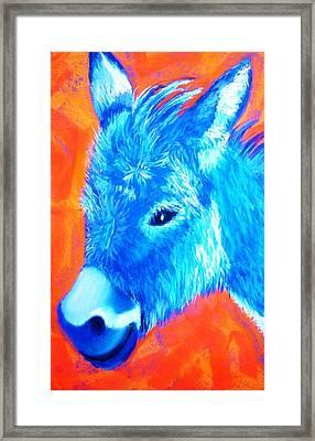 Blue Burrito Framed Print