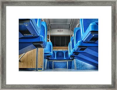Blue Bus Seats Framed Print