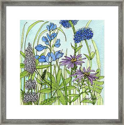 Blue Buttons Framed Print