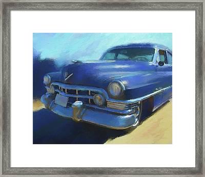 Blue Caddy Framed Print
