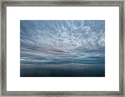 Blue Calm Framed Print