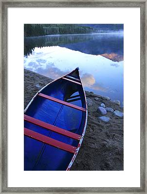 Blue Canoe Framed Print by Catherine Alfidi