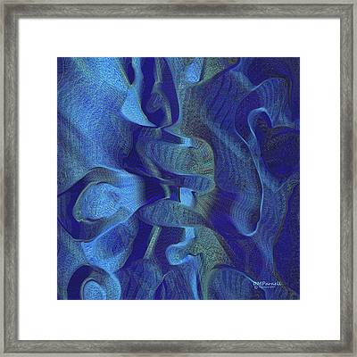 Blue Canyons Framed Print by Diane Parnell
