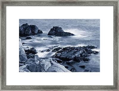Blue Carmel Framed Print