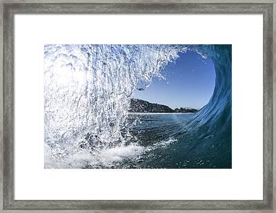 Blue Cascade Framed Print