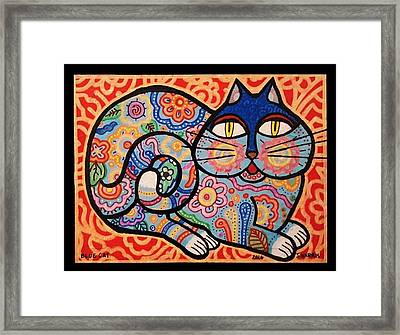 Blue Cat Framed Print by Jim Harris