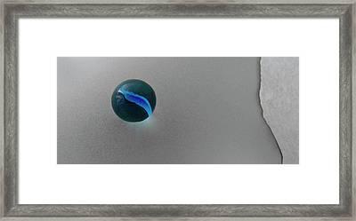 Blue Cat's Eye Framed Print by Don Spenner