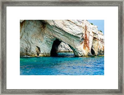 Blue Cave 4 Framed Print