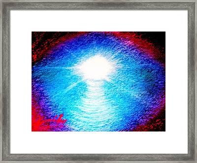 Blue Cave Framed Print