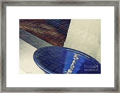 Blue Ceramic Bowl In Eltville 1 Framed Print