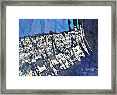 Blue Ceramic Bowl In Eltville 4 Framed Print by Sarah Loft