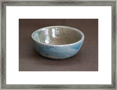 Blue Ceramic Drippy Bowl Framed Print by Suzanne Gaff