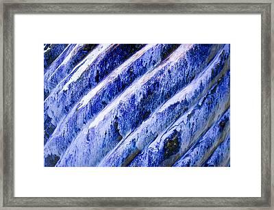 Blue Ceramic Framed Print
