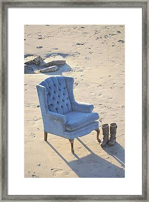 Blue Chair Framed Print