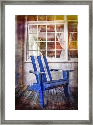 Blue Chair Framed Print by Debra and Dave Vanderlaan