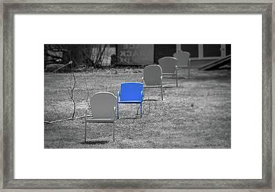 Blue Chair Framed Print