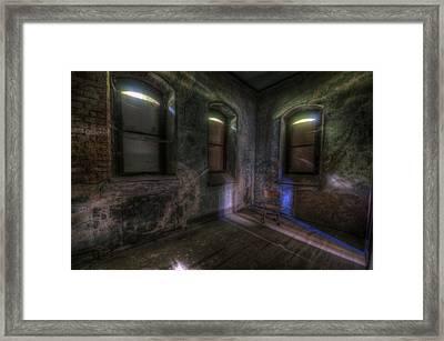 Blue Chair Light Framed Print