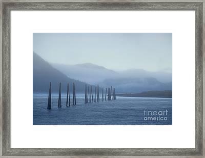 Blue Framed Print by Charity Hommel