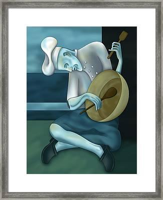 Blue Chef Framed Print