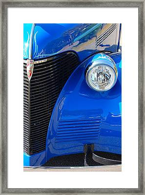 Blue Chevy Framed Print