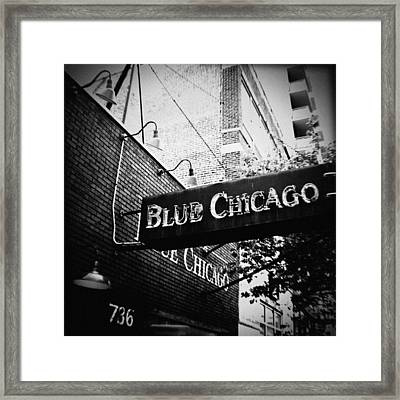 Blue Chicago Nightclub Framed Print