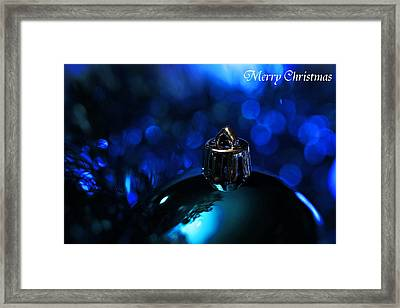 Blue Christmas Framed Print by Celestial  Blue