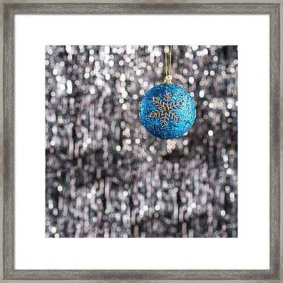 Framed Print featuring the photograph Blue Christmas by Ulrich Schade