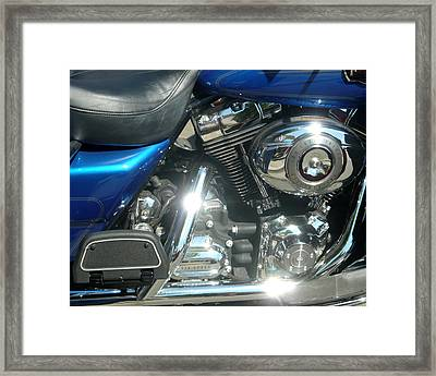 Blue Chrome Framed Print by Katherine Adams