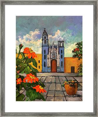 Blue Church   Iglesia Azul Framed Print