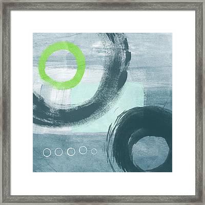 Blue Circles 1- Art By Linda Woods Framed Print by Linda Woods