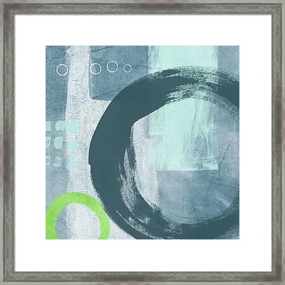 Blue Circles 2- Art By Linda Woods Framed Print