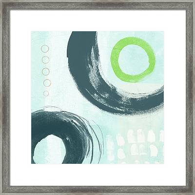 Blue Circles 3- Art By Linda Woods Framed Print