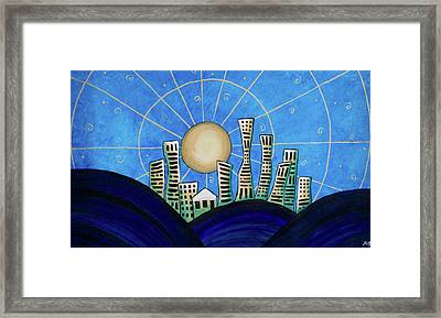 Blue City  Framed Print
