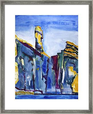 Blue Cliffs, Sea And Sky Framed Print
