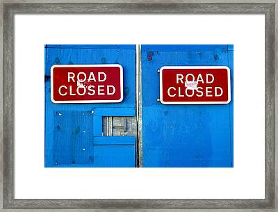 Blue Closure Framed Print by Jez C Self