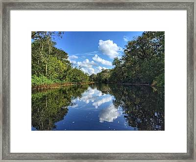 Blue Cloud Reflections  Framed Print