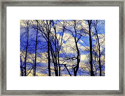 Blue Clouds Framed Print by Aron Chervin